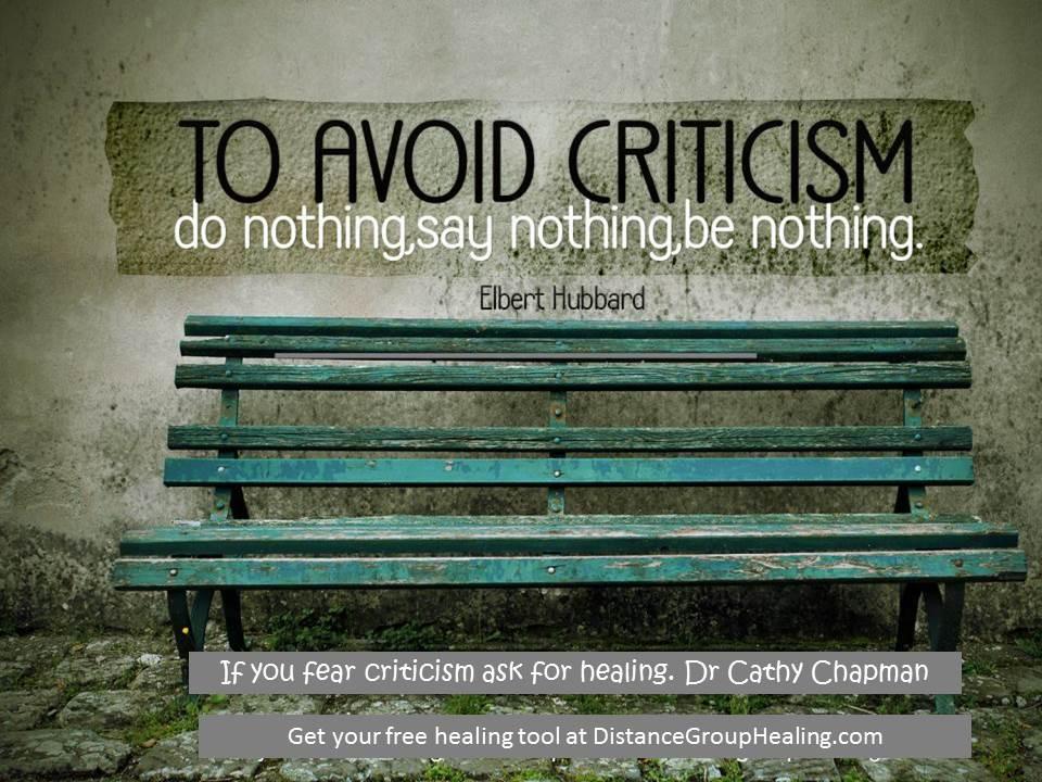 Avoiding Criticism